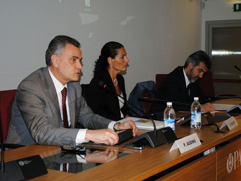 Da sin. Paolo Audino, Cristina Scaletti e Paolo Verri
