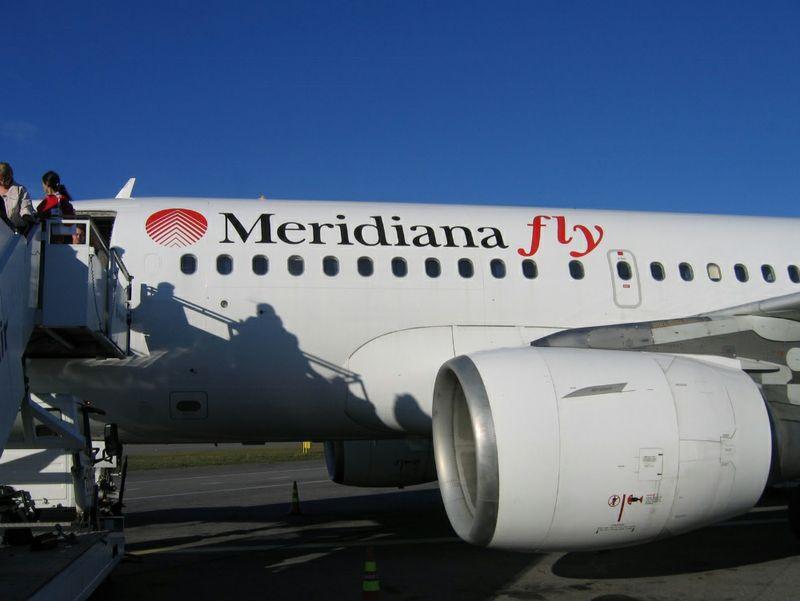 Un aereo della flotta Meridiana