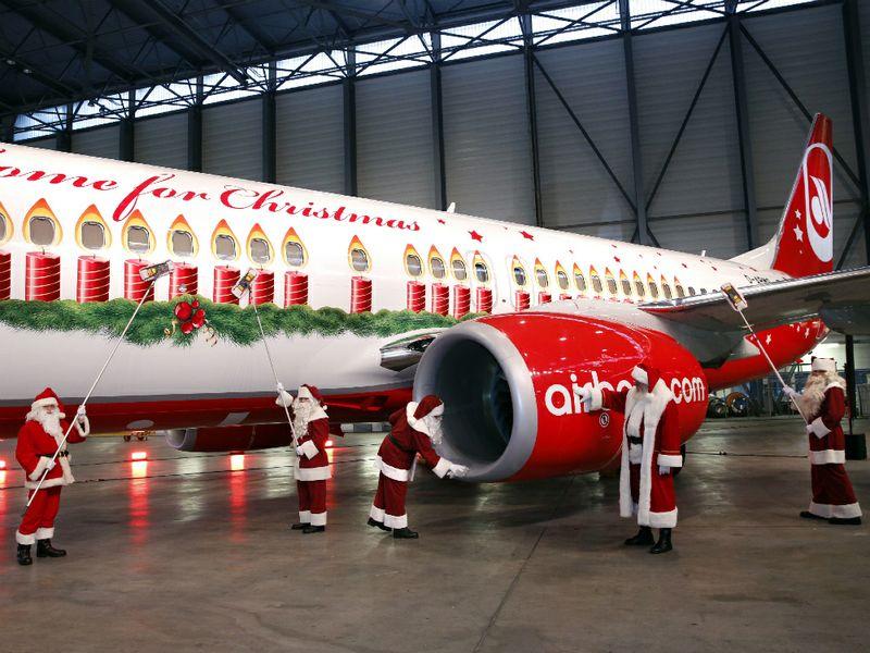 Malpensa nella rete dell 39 aereo natalizio airberlin ttg for Cane nella cabina dell aereo