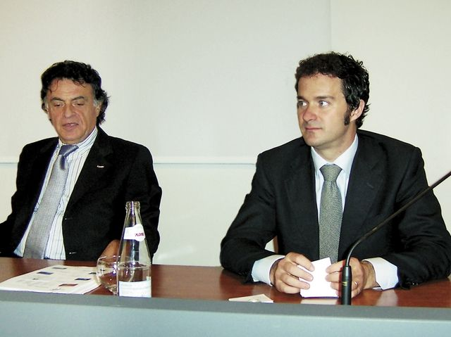 Giuseppe Gentile, a sinistra,e Alessandro Notari, a destra