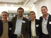 Da sx: Davide Catania, amministratore unico di Alidays, Gianni Zammarchi di Easy Market, Gabriele Rispoli di Amadeus e Fabio Giangrande di Albatravel