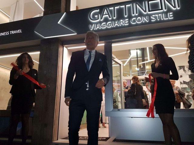 Franco Gattinoni taglio nastro nuova sede