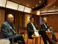 Da sinistra Norbert Stiekema, Neil Palomba, Massimo Brancaleoni